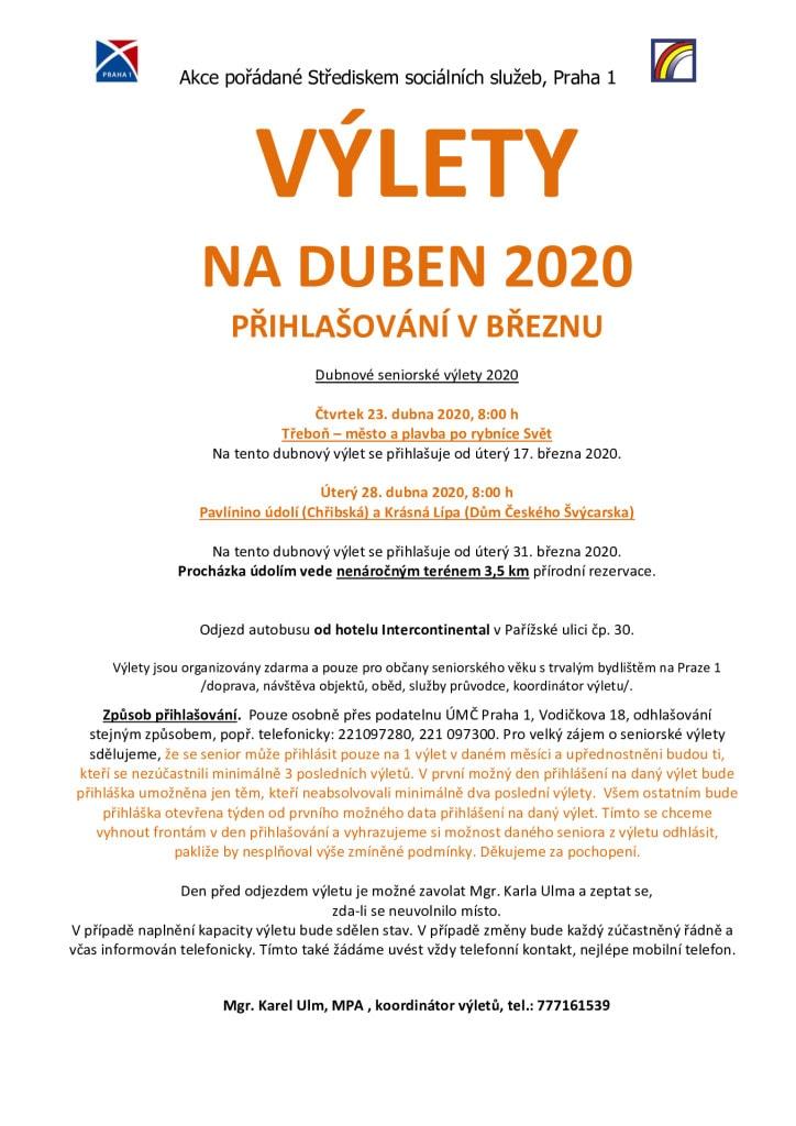 thumbnail of Výlety na DUBEN 2020