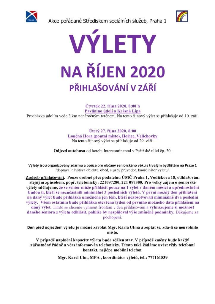 thumbnail of Výlety na ŘÍJEN 2020