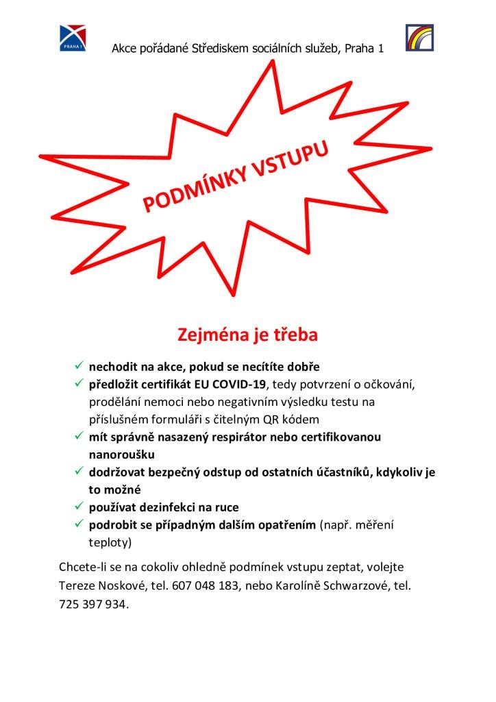 thumbnail of PODMÍNKY VSTUPU nástěnky